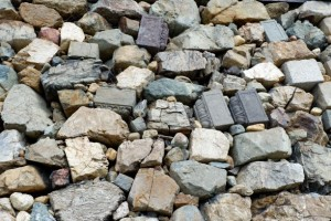 福知山城の 石垣